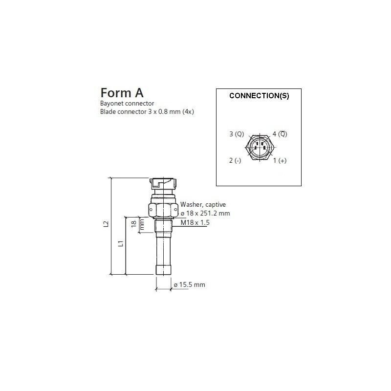VDO Blokgolf toeren - snelheid sensor - M18
