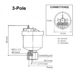 VDO Generator Drehzahl - Geschwindigkeit Sensor - M22