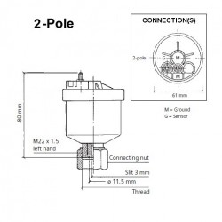 VDO Generator toeren - snelheid sensor - M22