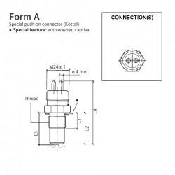 VDO Induktiv Drehzahl - Geschwindigkeit Sensor - M18