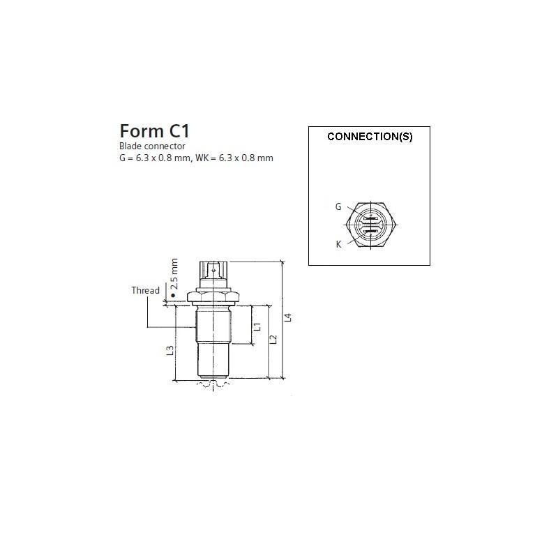 100 Stuks VDO Inductie toeren - snelheid sensor - M18