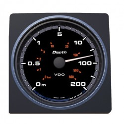 VDO AcquaLink Depth gauge 0-200m Black 110mm