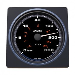 VDO AcquaLink Depth gauge 0-600ft Black 110mm