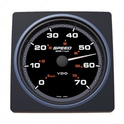 VDO AcquaLink SOG Speedometer 70mph 110mm Black