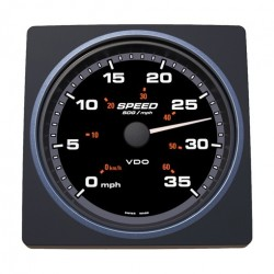 VDO AcquaLink SOG Speedometer 35mph 110mm Black