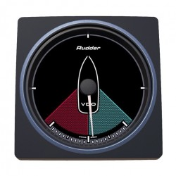 VDO AcquaLink Rudder angle indicator Black 110mm