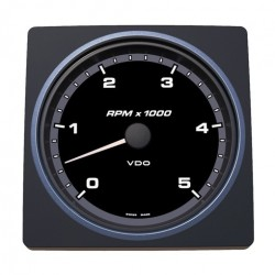VDO AcquaLink Tachometer 5.000 RPM Black 110mm