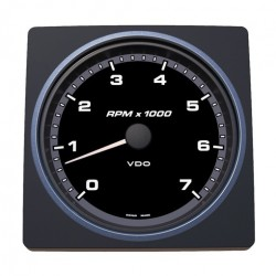 VDO AcquaLink Tachometer 7.000 RPM Black 110mm