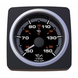 VDO AcquaLink Motor Öltemperatur 150°C Schwarz 52mm