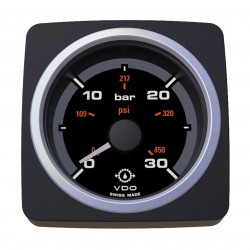 VDO AcquaLink Gear Oil Pressure 30Bar Black 52mm