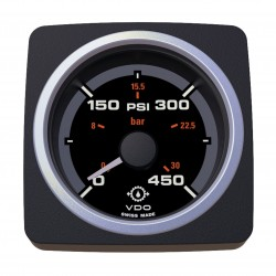 VDO AcquaLink Gear Oil Pressure 450PSI Black 52mm