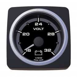 VDO AcquaLink Voltmeter 18-32V Black 52mm