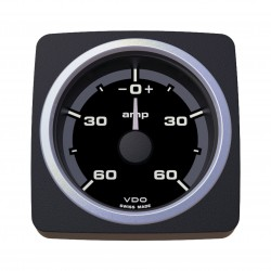 VDO AcquaLink Ammeter 60A Black 52mm