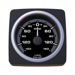 VDO AcquaLink Ammeter 150A Black 52mm