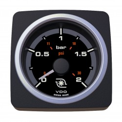 VDO AcquaLink Turbo Pressure 2Bar Black 52mm