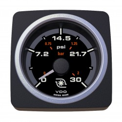 VDO AcquaLink Turbo Pressure 30PSI Black 52mm