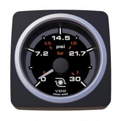 VDO AcquaLink Turbodruk 30PSI Zwart 52mm