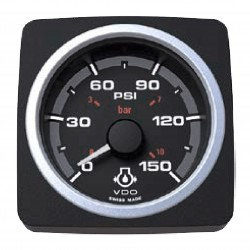 VDO AcquaLink Engine Oil Pressure 150PSI Black 52mm