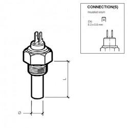 VDO Coolant temperature sender 120°C - 5/8-18 UNF-2A