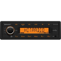 Continental 12V Radio RDS USB MP3 WMA Orange Backlight