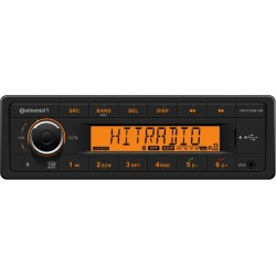 Continental 12V Radio RDS USB MP3 WMA Bluetooth Orange Backlight