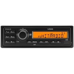 Continental 24V Radio RDS USB MP3 WMA Orange Backlight