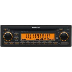 Continental 12V DAB+ Radio-CD RDS USB MP3 WMA Bluetooth Beleuchtung Orange