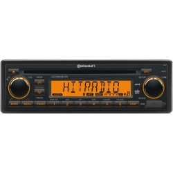 Continental 24V Radio-CD RDS USB MP3 WMA Bluetooth Beleuchtung Orange