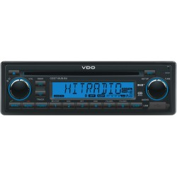 VDO 12V DAB+ Radio-CD RDS USB MP3 WMA Bluetooth Blauw Backlight