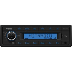 VDO 12V Radio RDS USB MP3 WMA Blauw Backlight