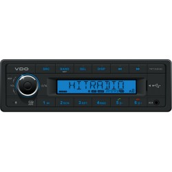 VDO 12V Radio RDS USB MP3 WMA Bluetooth Blauw Backlight