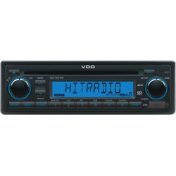 VDO 12V Radio-CD RDS USB MP3 WMA Blauw Backlight