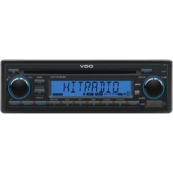 VDO 12V Radio-CD RDS USB MP3 WMA Bluetooth Blauw Backlight