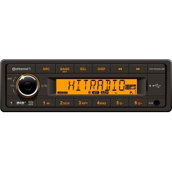 Continental 12V DAB+ Radio RDS USB MP3 WMA Bluetooth Orange Backlight