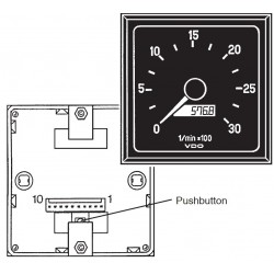 VDO Modul Cockpit Tachometer 3.000 RPM - EHC Counter