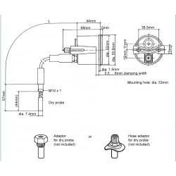VDO Cockpit International Olietemperatuur 150°C 52mm