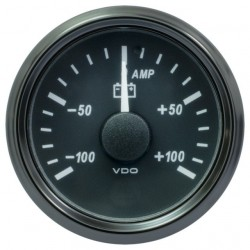 25 Pieces VDO SingleViu 0247 Ammeter 100A Black 52mm