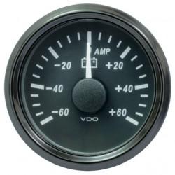 VDO SingleViu 0247 Ampèremeter 60A Zwart 52mm