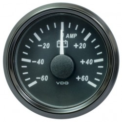 25 Pieces VDO SingleViu 0247 Ammeter 60A Black 52mm