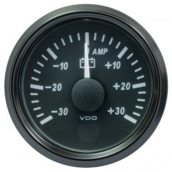 VDO SingleViu 0247 Ampèremeter 30A Zwart 52mm
