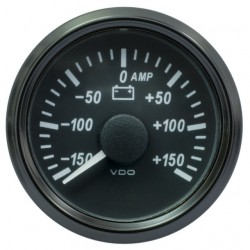 25 Pieces VDO SingleViu 0247 Ammeter 150A Black 52mm