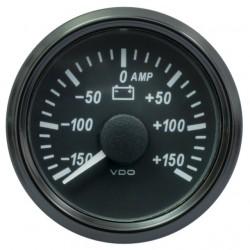 25 Stuks VDO SingleViu 0247 Ampèremeter 150A Zwart 52mm
