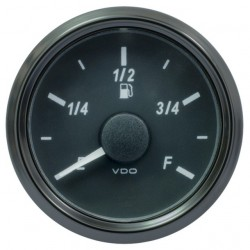 VDO SingleViu 0245 Fuel Level 3-90 Ohm Black 52mm