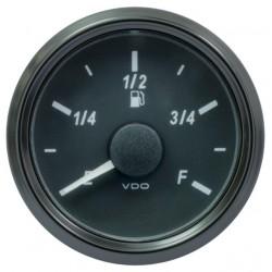 VDO SingleViu 0245 Kraftstoffvorrat 3-90 Ohm Schwarz 52mm