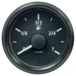 25 Stück VDO SingleViu 0245 Kraftstoffvorrat 3-180 Ohm Schwarz 52mm