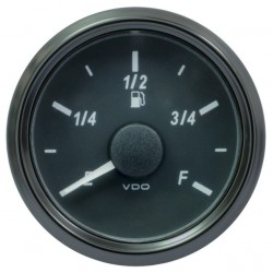 VDO SingleViu 0245 Fuel Level 3-180 Ohm Black 52mm