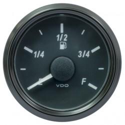 25 Stück VDO SingleViu 0245 Kraftstoffvorrat 90-0.5 Ohm* Schwarz 52mm