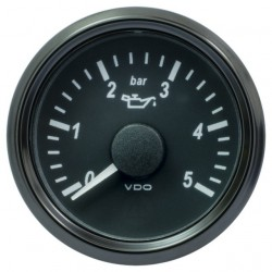 25 Pieces VDO SingleViu 0248 Engine Oil Pressure 5Bar Black 52mm