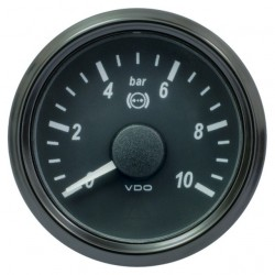 VDO SingleViu 1402 Brake Pressure 10Bar Black 52mm