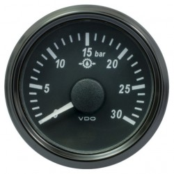 VDO SingleViu 1167 Gear Oil Pressure 30Bar Black 52mm